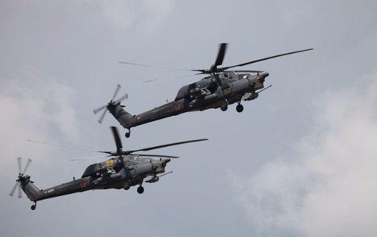 В России во время авиашоу  разбился военный вертолет