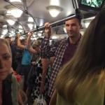 Кличко «застукали» в вагоне киевского метро (ФОТО)