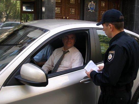 В Киеве копы оштрафовали авто с «бриллиантовым» прокурором (Фото)