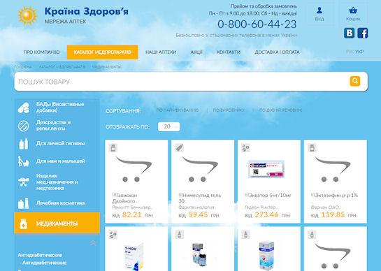 Лекарства в Киеве: онлайн-каталог