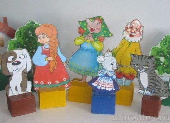 Настольный кукольный театр в детском саду своими руками фото 753