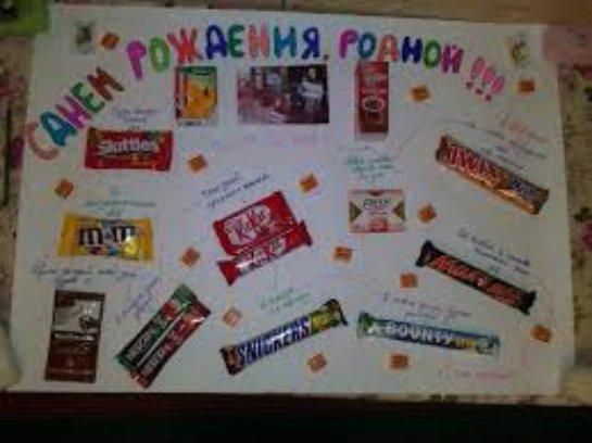 Плакат на день рождения своими руками подруге 13 лет