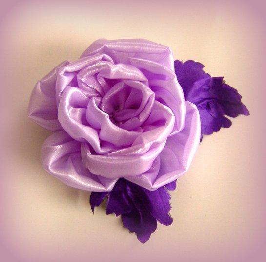 Цветок из ткани на платье своими руками мастер класс 201