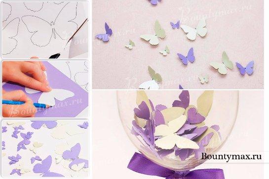 Бабочки своими руками мастер класс из бумаги