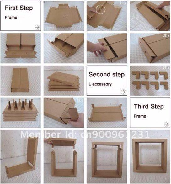 Как сделать рамки из картона для фото своими руками