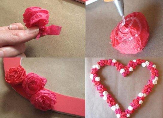 Как сделать объёмное сердце из салфеток своими руками 56