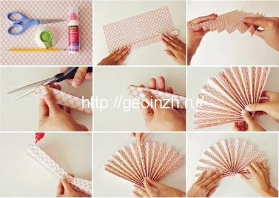 Как сделать из бумаги украшения