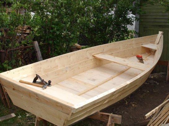 Как сделать нос у деревянной лодки