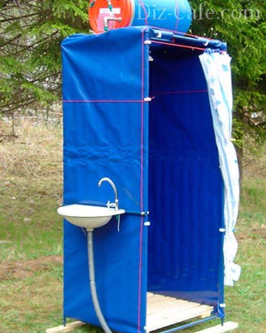 Как установить душ на даче своими руками