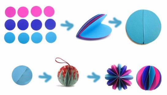 Игрушки своими руками из бумаги шар