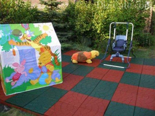 Резиновая плитка для детских площадок своими руками