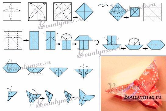 Как сделать оригами бабочки из бумаги