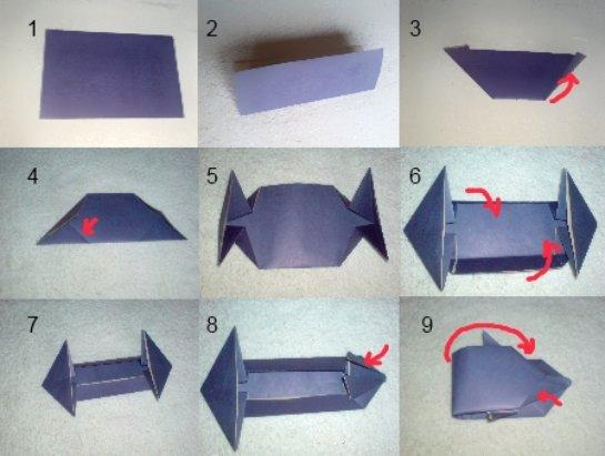 Как сделать из бумаги гоночною машину
