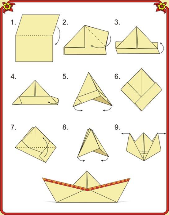 Из бумаги по шаговой инструкции