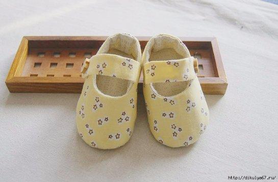 Детские туфельки своими руками