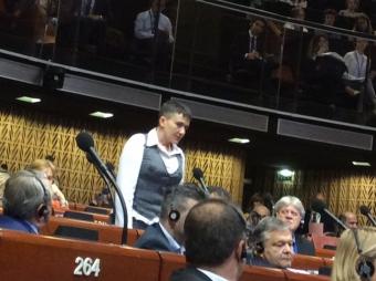 Надежда Савченко выступила в ПАСЕ. ВИДЕО