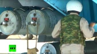 Российский телеканал RT показал кассетные бомбы на самолетах в Сирии