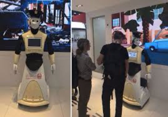 Дубае представили первого робота-полицейского