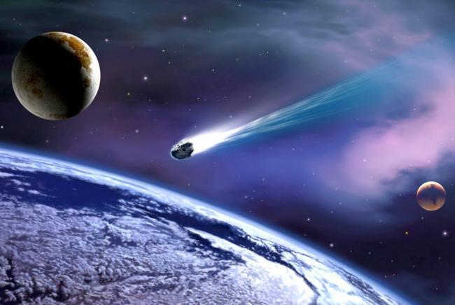 Астронавт снял на видео падение метеорита на Землю (ВИДЕО)